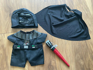 Build a Bear Star Wars Darth Vader 4 Piece Costume Outfit Including Lightsaber