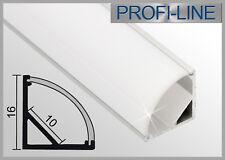 6,90 €/m LED Alu Profil Winkelprofil Typ R Winkel Eck Schiene Leiste 1m oder 2m