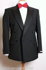 SCOTT & TAYLOR DB Satin PEAK LAPEL Tuxedo Dinner Suit C36 x W32 x 31.5L NEW