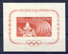 TIMBRE BLOC DE ROUMANIE N° 48 ** NON DENTELE JEUX OLYMPIQUE DE ROME 1960