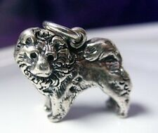 LOOK 2684 Chow Charm 3D Sterling Silver Dog puppy Jewelry