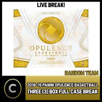 2018-19 PANINI OPULENCE BASKETBALL 3 BOX CASE BREAK #B185 - RANDOM TEAMS