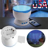 Ocean Daren Wave LED Night Light Projector Romantic Relaxing Lamp W/Speaker Gift