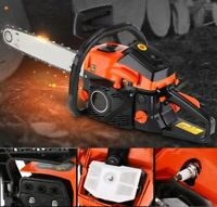"2-Stroke 52CC Petrol Chainsaw Easy Start E-Start Chain Saw 20"" Tool Heavy Duty"