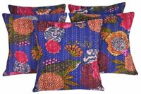 5 PC Vintage Sofa Cushion Cover Cotton Pillow Cover Cushion Foundation Floral