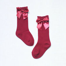Cute Toddler Kid Baby Girl Knee High Long Socks Bow Cotton Stockings 0-4 Years