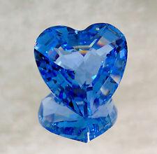 "Nib 1997 Limited Edition Swarovski Blue Renewal Crystal Heart 1.5"" Paperweight!"