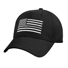 Thin SILVER Line USA Flag Ball Cap Correction Officer Support CO LEO Police Hat
