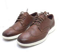 Cole Haan Men's Grand Tour WingTip Oxford C29414 Grand OS Brown Leather Size 7.5