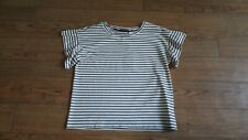 Max Mara t-shirt top.RRP £80.Size XL.Black and cream striped.New with tags