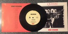 QUEEN - ONE VISION -1985 VINTAGE 7'' SINGLE - NEAR MINT - PICTURE COVER & LYRICS