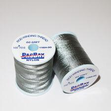 2 X Pac Bay Nylon Rod Winding Thread Grade A 100yd for Rod Building / Grey