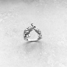Sterling Sterling Kissing Elephants Ring, Silver Rings, Animal Ring