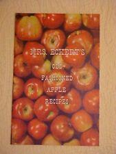 Cookbooklet, MRS. ECKERT'S OLD FASHIONED APPLE RECIPES, BELLEVILLE IL
