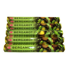 HEM BERGAMOT INCENSE STICK HEX TUBES 6 PACKS X 20 STICK = 120 STICK - 1939