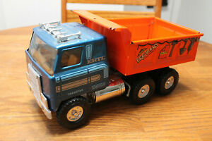 Vintage 1970s ERTL International Transtar Pressed Steel Automatic Dump Truck