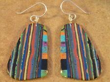 Ronald Chavez Kewa Turquoise Agate & Rainbow Casilica Earrings