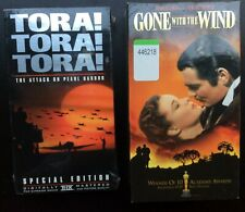 Lot of 2-Gone with the Wind Set & Tora Tora Tora VHS NEW NIB Factory Sealed