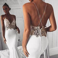 Open Back Sexy Mermaid Dress Spaghetti Strap Wedding Dresses Satin Appliques