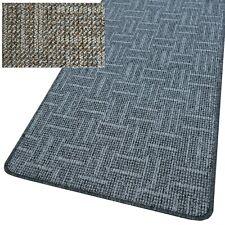 "Teppich Läufer ""TIM LINEA"" Struktur - Schlinge, solide + neutral, gekettelt NEU"