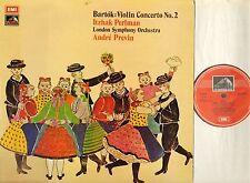 ASD 3014 PERLMAN/PREVIN bartok violin concerto no 2 uk hmv 1974 LP PS EX+/EX