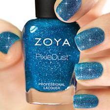 Zoya PixieDust Zp681 Liberty blue matte sparkle nail polish lacquer Pixie Dust