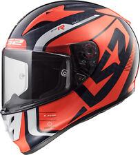 Ls2 Casque Moto integral Ff323 Arrow C Carbon Sting Blue fluo Orange 4xl