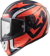 Ls2 Casque Moto integral Ff323 Arrow C Carbon Sting Blue fluo Orange XXL