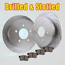 Rear Drill Slot Brake Rotors and Ceramic Pads kit 1994 - 2002 2003 2004 Mustang