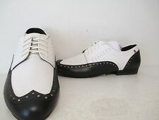 Bass Womens Georgia Leather Dress Casual Oxford Shoes White/ Black Size 6 M