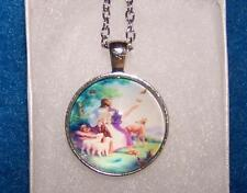 men women Free Keychain Gift Box Jesus Bible Pray Save pendant Silver necklace