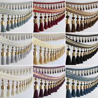 DIY Curtain Lace Tassel Edging Fringe/Trim Sewing/Costume/Crafts 1M X 12cm Wide