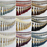 DIY Curtain Lace Tassel Edging Fringe/Trim Sewing/Costume/Crafts 1M X 12cm Wide