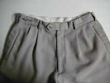 Greg Norman Collection Light Tan Pleated Cuffed Pants 32/34