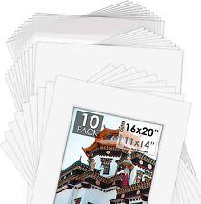 Acid-Free Pre-Cut 16x20 White Picture Mat Set. Includes a