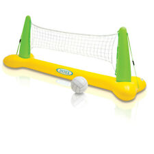 POOL VOLLEYBALL-GAME SET-INFLATABLE VOLLEY BALL & NET BEACH BACKYARD SWIMMING PO