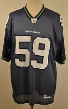 Reebok Seattle Seahawks Jersey #59 Aaron Curry Mens XL Blue NFL Football