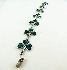 Irish Shamrock abalone shell Celtic bracelet