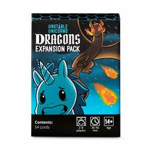Unstable Unicorns: Dragons Expansion Pack Cards Game Lot# 23484 100% Genuine NEW
