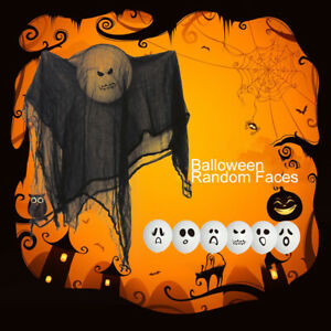 Hanging Decoration Ghost Face Balloon with Veil Halloween Party Props Outdoor