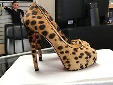 Christian Louboutin Leopard Pony Hair Platform Pumps Heels (Size 35.5)