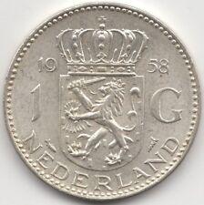 More details for 1958 netherlands silver gulden   european coins   pennies2pounds