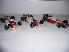 3 x Formula 1 racing cars, 1:24 scale plastic kits.  Good condition. No boxes