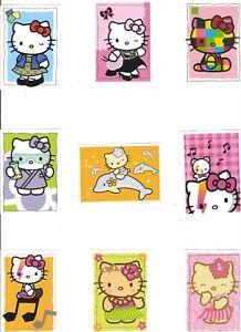 Lote 9 Pegatinas Cromos Hello Kitty Nuevas- Cromos Panini