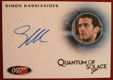 JAMES BOND - Quantum of Solace - SIMON KASSIANIDES, Yusef Kabira, Autograph Card