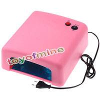 UV Gel Nail Art Lamp Gel Curing Tube Light Dryer Machine 36W 110V/220V