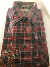 The Forester By Vanderbilt Plaid Flannel Shirt Men's XL 17-171/2 Vintage