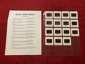 Black Hawk Down Press Photo Slides (15) 2001 Josh Hartnett Jeremy Piven