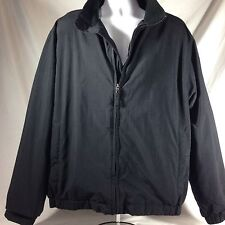 Eddie Bauer Black Mens Winter Fleece Lined Jacket Coat Tall Size X Large XL