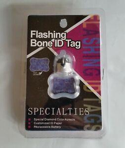 SPECIALTIES Flashing Bone ID Tag - LED Colors Red Blue Green - NIP
